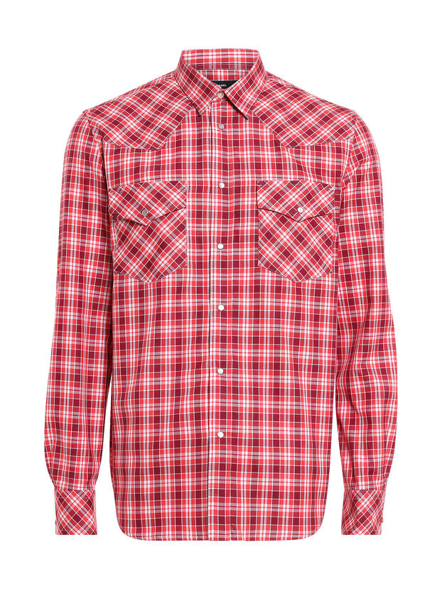 S-EAST-LONG-O, Red/White - Shirts