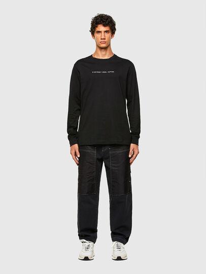 Diesel - T-JUST-LS-X93, Black - T-Shirts - Image 4