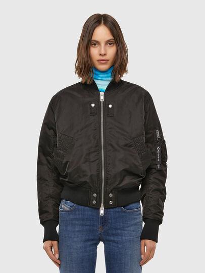 Diesel - W-SWING, Black - Winter Jackets - Image 1