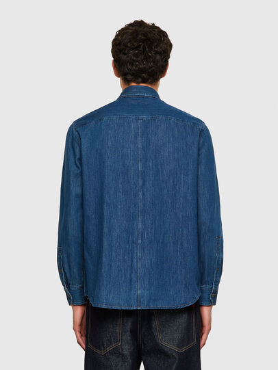 Diesel - D-MILLY-SP, Azul medio - Camisas de Denim - Image 2