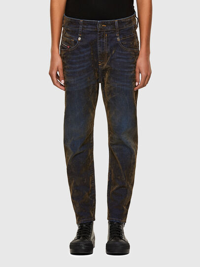 Diesel - Fayza 069RQ, Blue/Yellow - Jeans - Image 1