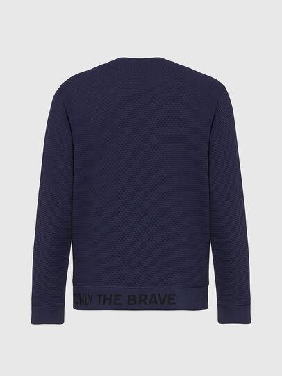 Diesel - S-PEWTER, Blue - Sweatshirts - Image 3