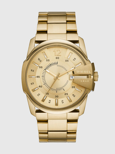 Master Chief Three-Hand Gold-Tone Stainless Steel Watch
