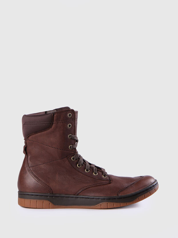 S-BOULEVARD, Brown Leather - Boots