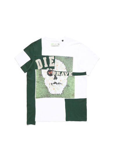 Diesel - D-FRANKENSTEIN 2.1, White/Green - T-Shirts - Image 1