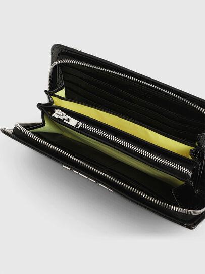 Diesel - GRANATO LCLS, Black - Zip-Round Wallets - Image 3