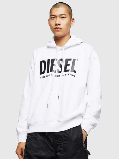 Diesel - S-DIVISION-LOGO, White - Sweatshirts - Image 1