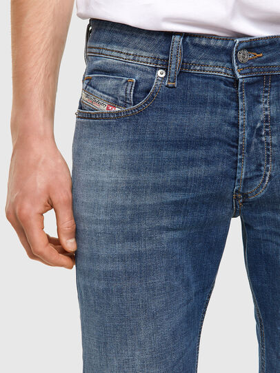 Diesel - Sleenker Skinny Jeans 09A60, Medium Blue - Jeans - Image 3