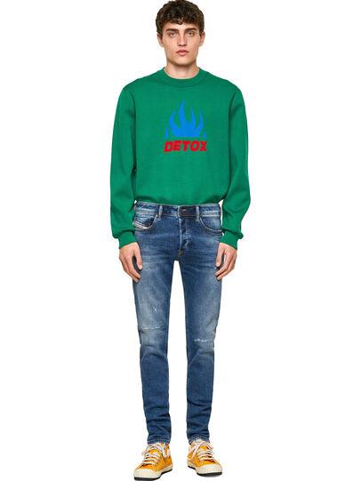 Diesel - Sleenker Skinny Jeans 009PN, Medium Blue - Jeans - Image 5