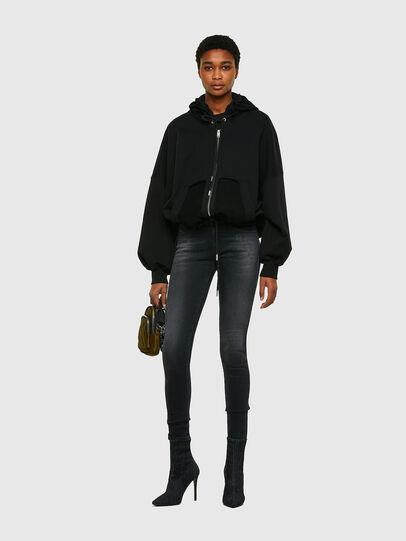 Diesel - Slandy Skinny Jeans 069SB, Black/Dark Grey - Jeans - Image 5