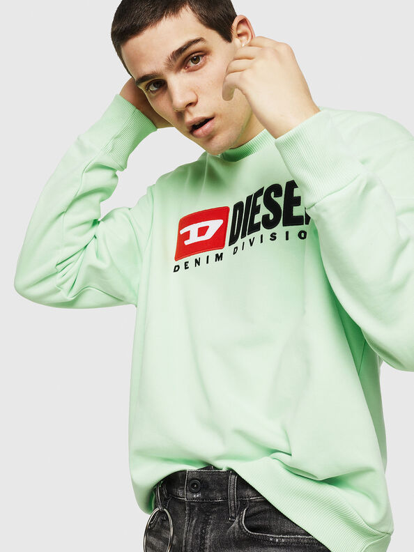 S-CREW-DIVISION, Green Fluo - Sweatshirts