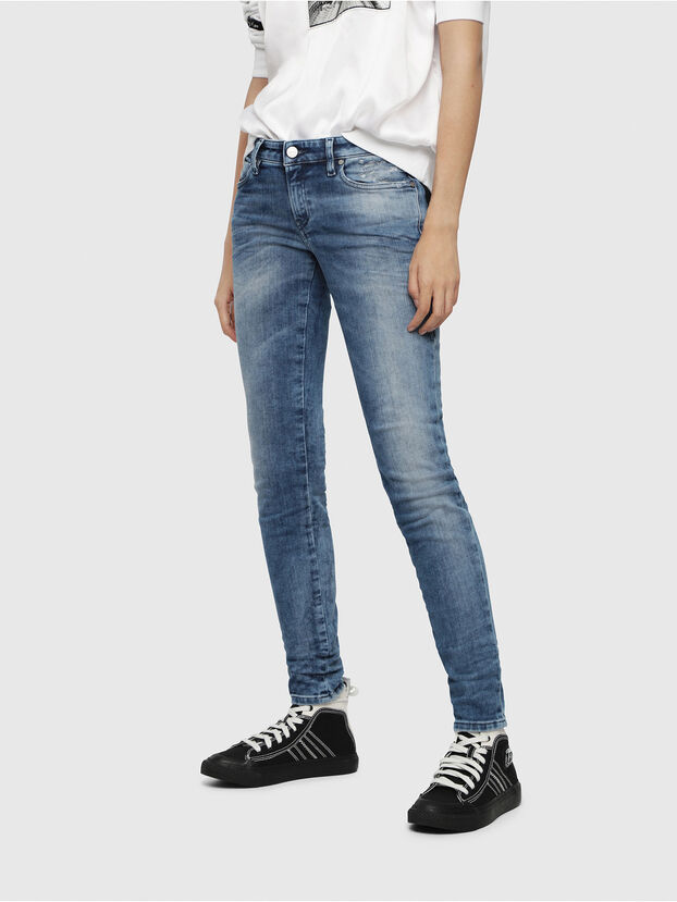 Gracey JoggJeans 080AS, Medium Blue - Jeans