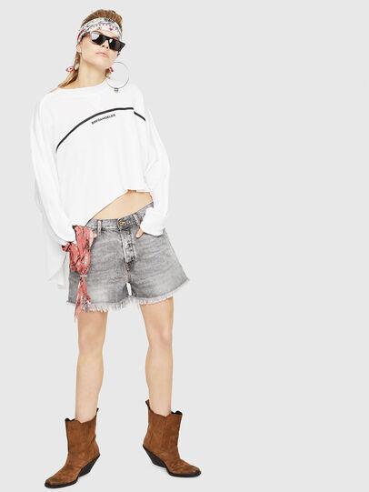 Diesel - F-ZOIE, White - Sweatshirts - Image 5