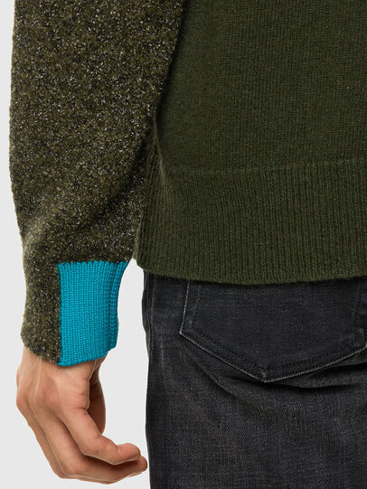 Diesel - K-MOSES, Olive Green - Sweaters - Image 5