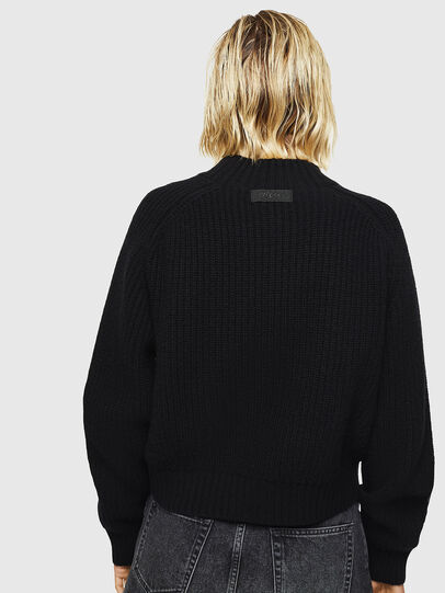 Diesel - M-FOLLY-A, Black/Silver - Sweaters - Image 2