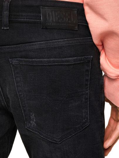Diesel - Sleenker Skinny Jeans 0092B, Black/Dark Grey - Jeans - Image 4