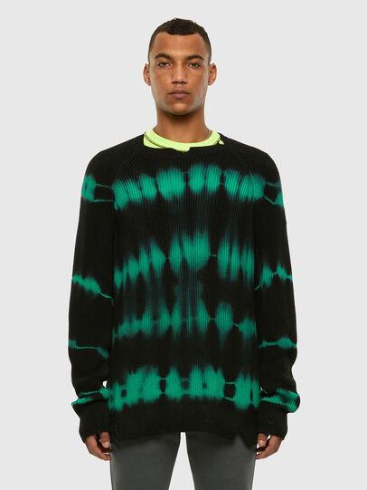 Diesel - K-TONI, Black/Green - Sweaters - Image 4