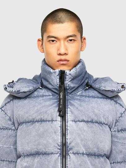 Diesel - W-EVACID-A, Light Blue - Winter Jackets - Image 3