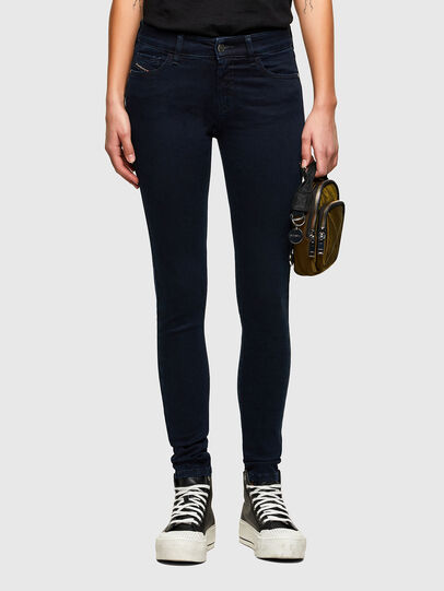 Diesel - Slandy Skinny Jeans 009PV, Dark Blue - Jeans - Image 1