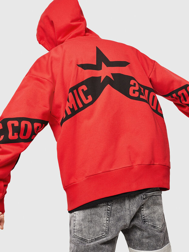 S-ALBY-ZIP-A1, Fire Red - Sweatshirts