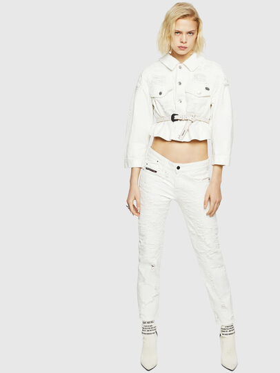 Diesel - DE-CATE, White - Denim Jackets - Image 6