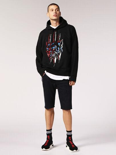 Diesel - KROOSHORT JOGGJEANS, Black Jeans - Shorts - Image 5