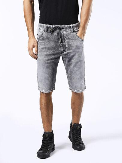 Diesel - KROSHORT JOGGJEANS, Light Grey - Shorts - Image 1
