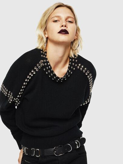 Diesel - M-KRIPX, Black - Sweaters - Image 4