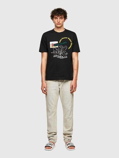 Diesel - T-JUST-B60, Negro - Camisetas - Image 4