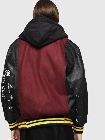 Diesel - W-ANTONIA, Black/Red - Winter Jackets - Image 2