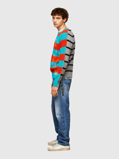 Diesel - K-JASPER, Blue/Red - Sweaters - Image 5