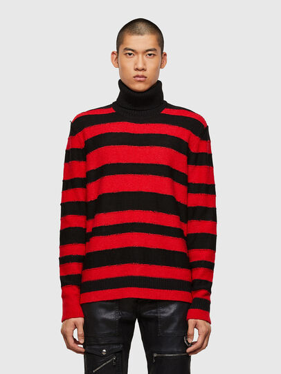 Diesel - K-BRENTON, Red/Black - Sweaters - Image 1
