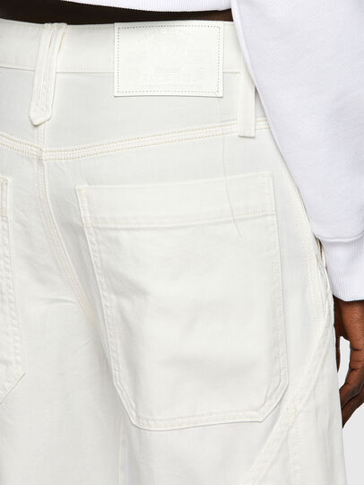 Diesel - D-Laly Wide Jeans 0HDAI, White - Jeans - Image 3