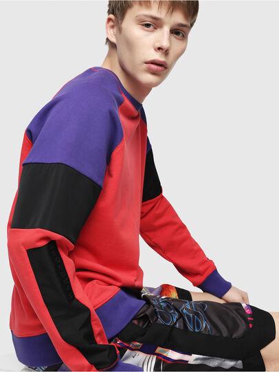 Diesel - S-GIM-BLOCK, Red/Black - Sweatshirts - Image 3