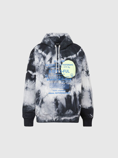 Diesel - S-MOONY, Black/White - Sweatshirts - Image 1