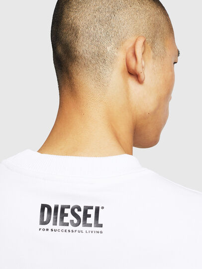 Diesel - S-LINK-MOHAWK, White - Sweatshirts - Image 5