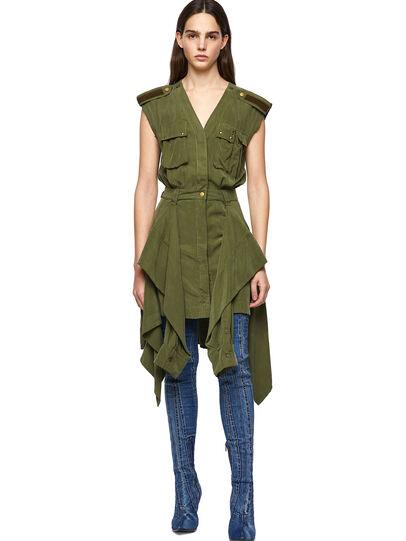 Diesel - D-GIUDITTA, Olive Green - Dresses - Image 1