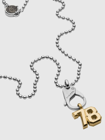 Diesel - DX1229, Silver - Necklaces - Image 2
