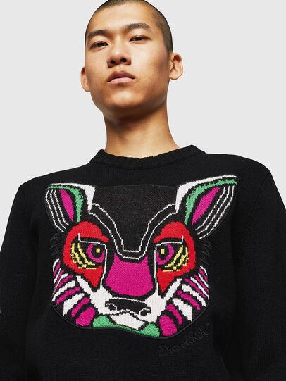 Diesel - K-CV-PATCH, Black - Sweaters - Image 5