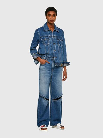 Diesel - D-Reggy Straight Jeans 009RK, Medium Blue - Jeans - Image 5
