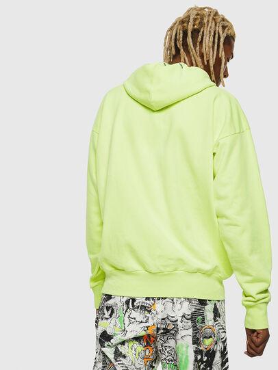 Diesel - S-ALBY-FLUO, Yellow Fluo - Sweatshirts - Image 3