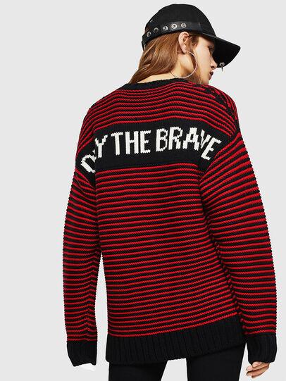 Diesel - K-BALLIS, Red/Black - Sweaters - Image 4
