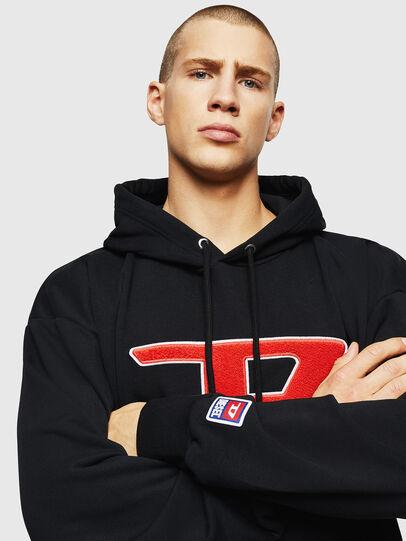 Diesel - S-DIVISION-D, Black - Sweatshirts - Image 3