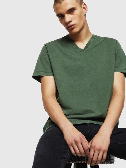 Diesel - T-THEA, Dark Green - T-Shirts - Image 4