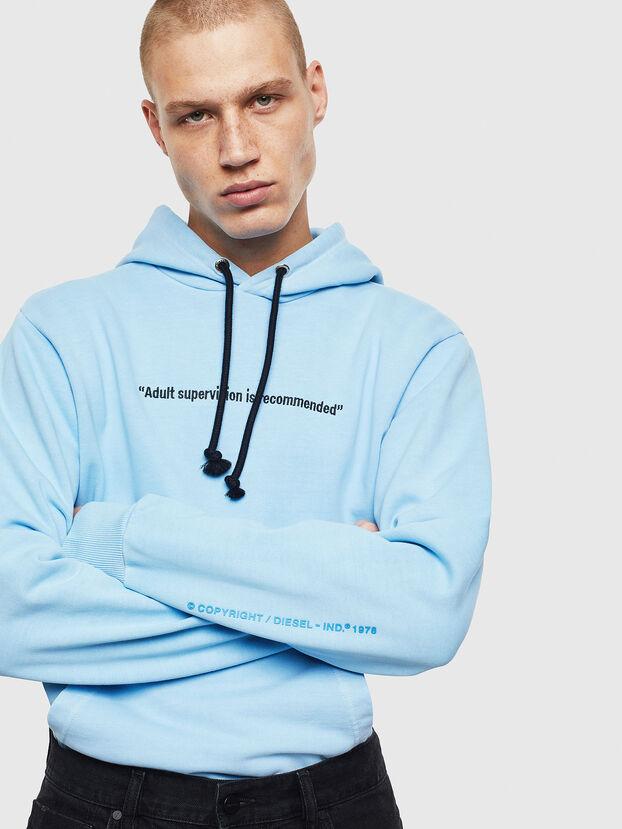 S-GIRK-HOOD-FLUO, Azure - Sweatshirts
