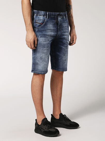 Diesel - KROOSHORT JOGGJEANS, Medium Blue - Shorts - Image 3