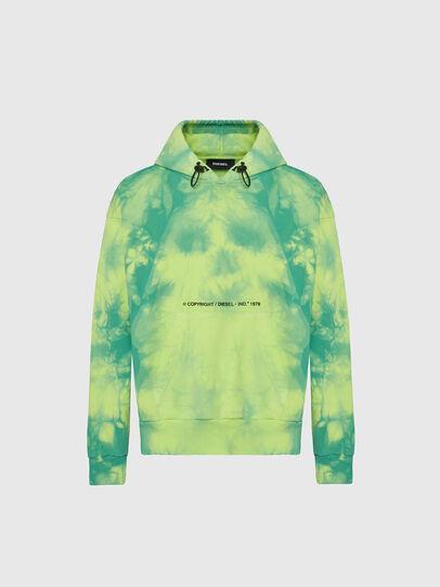 Diesel - S-ALBYEL-X4, Green/Yellow - Sweatshirts - Image 1