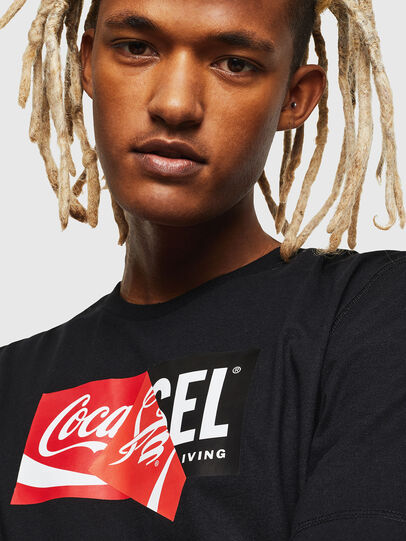 Diesel - CC-T-JUST-COLA, Black - T-Shirts - Image 5
