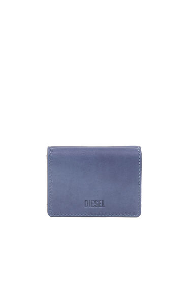 Tri-fold wallet in treated nappa