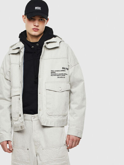 Diesel - D-EDDY, White - Denim Jackets - Image 4
